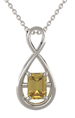 Criss Cross Soiltaire Pendant Mounting for Emerald Centergem Sized 5.00 x 3.00 mm to 16.00 x 12.00 mm - Customize Metal, Accents or Gem Type