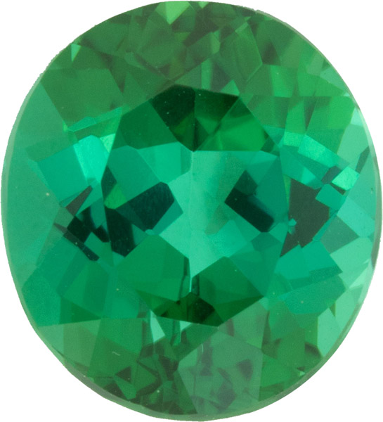 Crystal Gem Blue Green Tourmaline Gemstone, Neon Blue Green Color in 10.6 x 9.5 mm, 4.29 carats