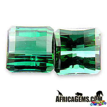 Custom Faceted Gorgeous Perfect Match Jumbo Blue Green Tourmaline Gemstone 38.99 carats