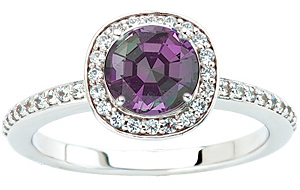 Custom Made Ring Featuring a Genuine GEM 1 carat Alexandrite Gemstone for SALE
