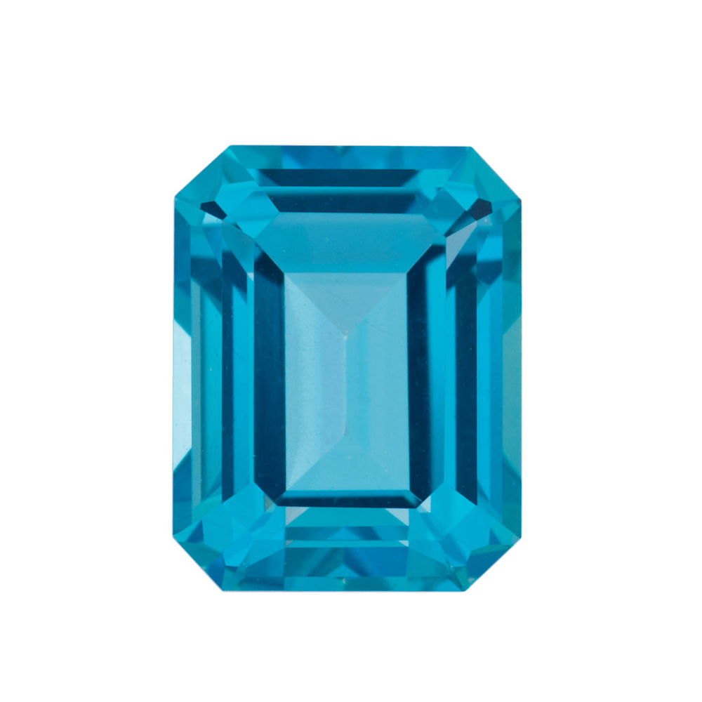 Cut Loose Calibrated Size Emerald Shape Paraiba Passion Topaz Gemstone Grade AAA, 10.00 x 8.00 mm in Size