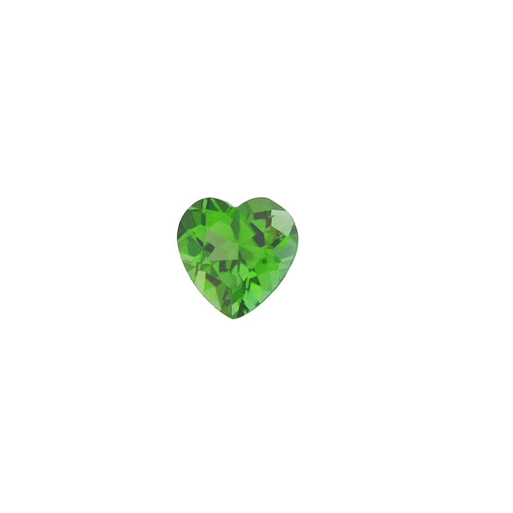 Loose Calibrated Top Quality Heart Shape Green Tourmaline Gemstone Grade AAA, 5.00 mm in Size, 0.5 Carats
