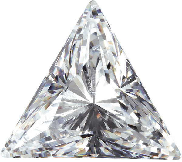 Cut Triangle White Cubic Zirconia Stones