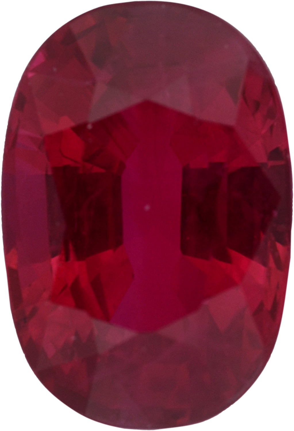 Dazzling Loose Ruby Gem in Oval Cut,  Red Color, 7.54 x 5.19 mm, 1.52 carats