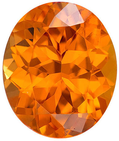 Dazzling Nigerian Garnet Orange Spessartite Loose Gem in Oval Cut in 8.8 x 7.3 mm, 2.53 carats