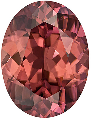 Dazzling Rose Brown ColoredTanzanian Brown Zircon - Great Value, Oval Cut, 12.24 carats