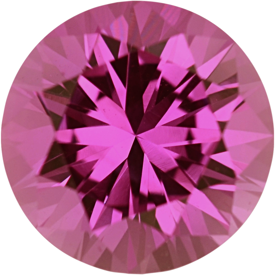 Dazzling Sapphire Loose Gem in Round Cut, Light Purple Pink, 5.6 mm, 0.85 Carats