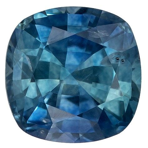 Deal on Blue Green Sapphire Cushion Shaped Gemstone, 1.25 carats, 5.9mm - Low Price