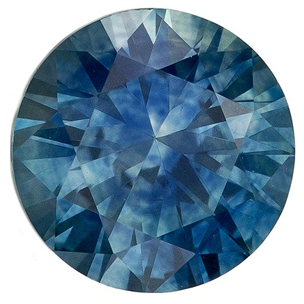 Deal on  Blue Green Sapphire Genuine Gemstone, 0.77 carats, Round Shape, 5.4 mm
