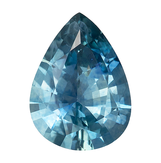 Deal on  Blue Green Sapphire Genuine Gemstone, 0.88 carats, Pear Shape, 7.4 x 5.5 mm