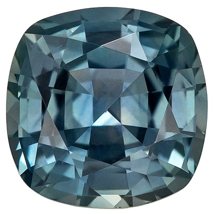 Deal on  Blue Green Sapphire Genuine Gemstone, 0.91 carats, Cushion Shape, 5.5 mm