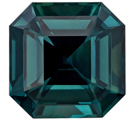 Deal on  Blue Green Sapphire Genuine Gemstone, 1.61 carats, Emerald Shape, 6.4 mm