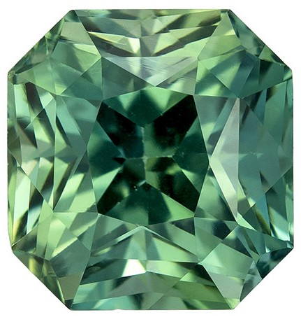 Deal on  Blue Green Sapphire Genuine Gemstone, 2.69 carats, Radiant Shape, 7.4 x 7 mm