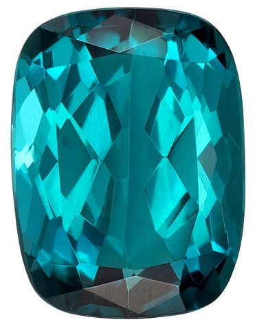 Deal on  Blue Tourmaline Genuine Gemstone, 2.15 carats, Cushion Shape, 8.7 x 6.5 mm