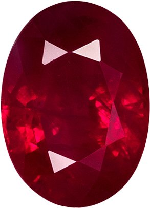 Deal on Gemmy Ruby Oval Cut, Rich Red Color in 7.2 x 5.2 mm, 1.25 carats