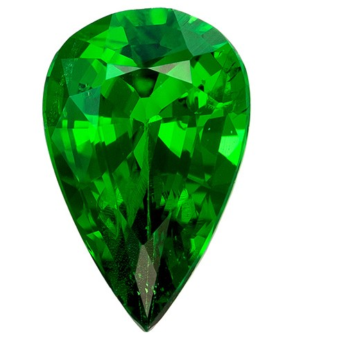 Deal on  Green Tsavorite Genuine Gemstone, 0.51 carats, Pear Shape, 6.8 x 4.3 mm