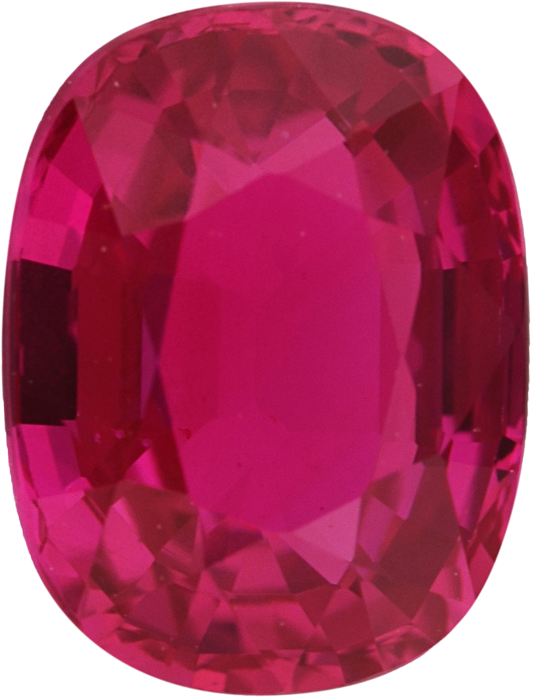 Deal On  No Heat Ruby Loose Gem in Antique Cushion Cut, Vibrant Purple Red, 6.80 x 5.20  mm, 1.17 Carats