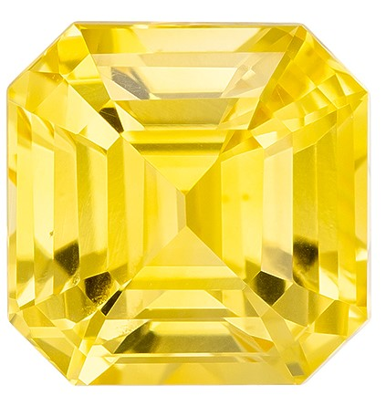 Deal on Asscher Cut Gorgeous Yellow Sapphire Gemstone, 2.02 carats, 6.6 mm , A Must Have Gem