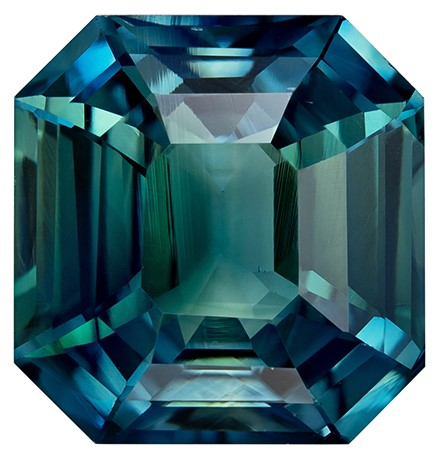 Deal on  Octagon  Cut Loose Blue Green Sapphire Gemstone, 6.52 carats, 10.3 x 9.9 mm , A Must Have Gem