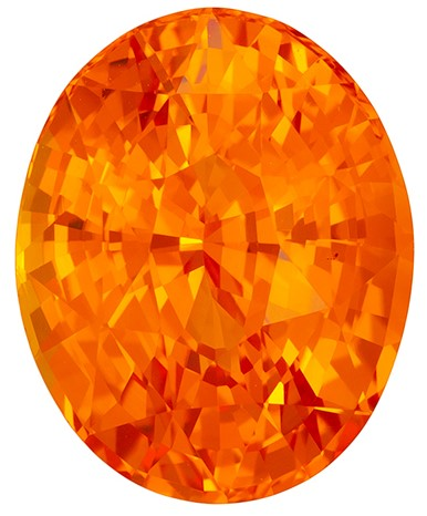 Deal on Oval Cut Gorgeous Orange Sapphire Gemstone, 4.01 carats, 10.18 x 8.18 x 6.16 mm with GIA Certificate, Very Bright Gem