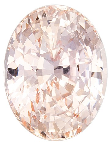 Deal on  Peach Sapphire Genuine Gemstone, 2.69 carats, Oval Shape, 8.86 x 6.81 x 5.46 mm  with  GIA Certificate