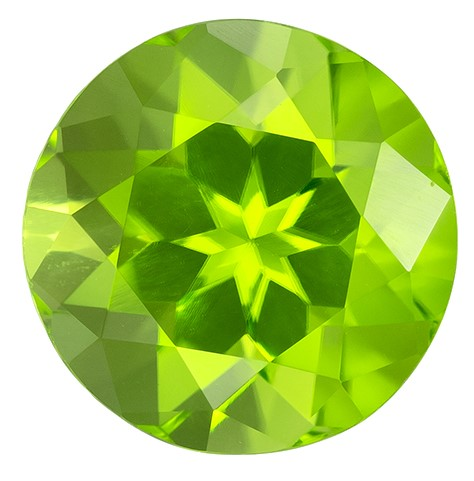 Deal on Peridot Round Shaped Gemstone, 2.79 carats, 8.5mm - Truly Stunning