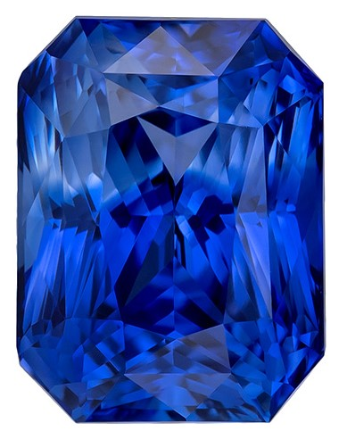 Deal on  Radiant Cut Gorgeous Blue Sapphire Loose Gemstone, 2.33 carats, 7.8 x 5.9 mm , Huge Presence