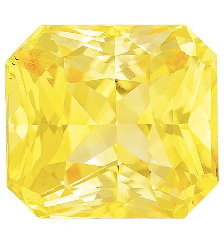 Deal on  Radiant Cut Loose Yellow Sapphire Loose Gemstone, 2.03 carats, 7 x 6.4 mm , A Great Deal