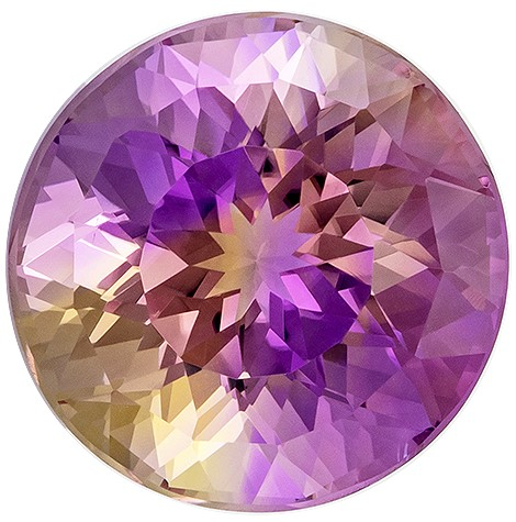 Deal on  Round Cut Faceted Ametrine Gemstone, 8.91 carats, 13.3 mm , Top Gem Material