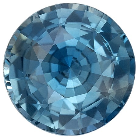 Deal on  Round Cut Natural Blue Green Sapphire Gemstone, 1.66 carats, 7.2 x 7.12 x 4.2 mm with GIA Certificate, Huge Presence