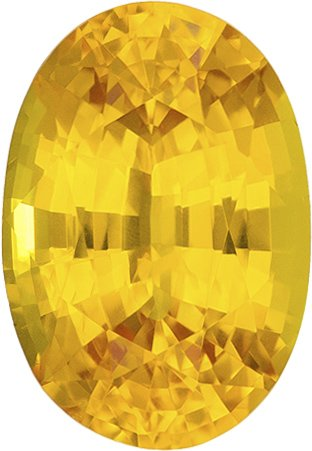 Deal on Sapphire Loose Gem in Oval Cut, Rich Pure Yellow Color in 9 x 6.2 mm, 2.11 carats