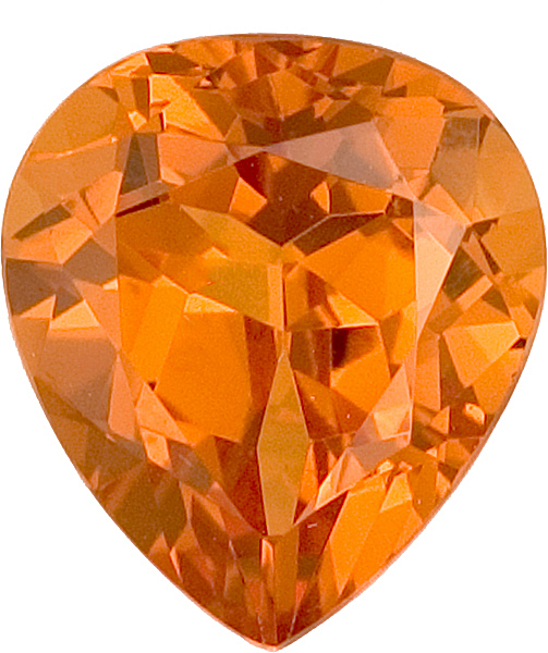 Deal on Special Creamsicle Colored Spessartite Garnet for SALE, 9.5 x 8.4mm, 3.26 carats
