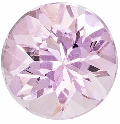 Delicate Looking Pink Topaz Loose Gem in Round Cut, Soft Baby Pink Color in 6.0 mm, 0.92 carats