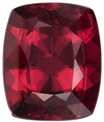 Desirable Rhodolite Loose Gem in Oval Cut, 7.01 carats, Rich Raspberry, 11.9 x 9.9 mm