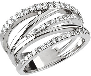 Detailed .050 ct 1.50 mm Diamond Ring set in 14 karat White Gold on SALE