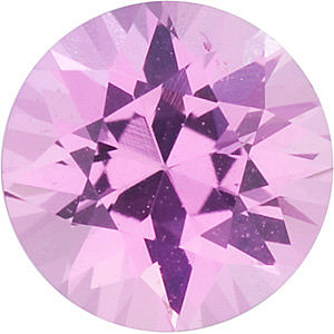 Diamond Cut Round Genuine Pink Sapphire in Grade A