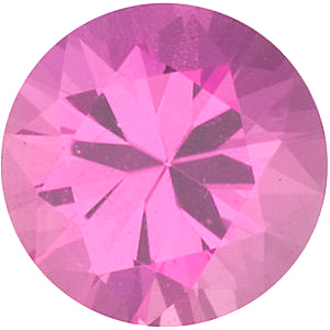 Diamond Cut Round Genuine Pink Sapphire in Grade AAA