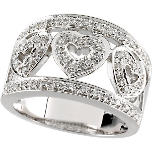 Diamond Heart Band