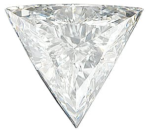 Loose Genuine Diamond Melee, Triangle Shape, G-H Color - VS Clarity, 3.50 mm in Size, 0.13 Carats
