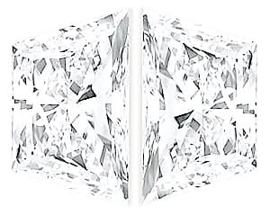 Shop Diamond Pair, Trapezoid Brilliant Cut, G-H Color VS Clarity, 5.70 x 3.50 mm in Size, 0.89 Carats