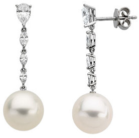 Diamond Semi-mount Earrings for Pearls