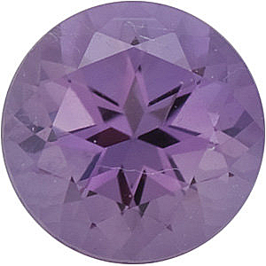 Loose Faceted Discount Amethyst Gem, Round Shape Swarovski Cut Grade FINE, 2.50 mm Size, 0.06 Carats