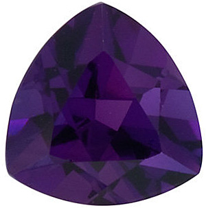 Faceted Loose Discount Amethyst Gem, Trillion Shape, Grade AAA, 11.00 mm Size, 3.8 carats
