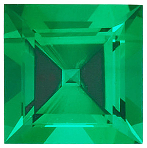 Discount Chatham Created Emerald Gem, Step Shape, Grade GEM, 3.50 mm in Size, 0.2 Carats