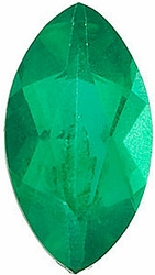 Discount Emerald Gemstone, Marquise Shape, Grade AA, 5.00 x 3.00 mm in Size, 0.18 Carats