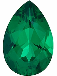 Discount Emerald Stone, Pear Shape, Grade AAA, 6.00 x 4.00 mm in Size, 0.4 Carats