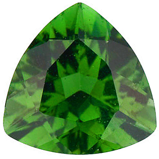 Discount Green Tourmaline Stone, Trillion Shape, Grade AAA, 5.00 mm in Size, 0.45 Carats