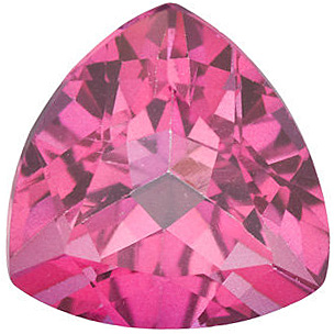 Discount Mystic Pink Topaz Gem, Trillion Shape, Grade AAA, 9.00 mm in Size, 3.5 Carats