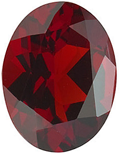Discount Red Garnet Gemstone, Oval Shape, Grade AAA, 7.00 x 5.00 mm in Size, 0.95 carats