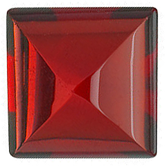 Discount Red Garnet Stone, Square Shape Cabochon, Grade AAA, 4.00 mm in Size, 0.58 carats